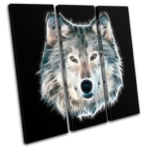 Wolf Illustration B & W Animals - 13-0217(00B)-TR11-LO